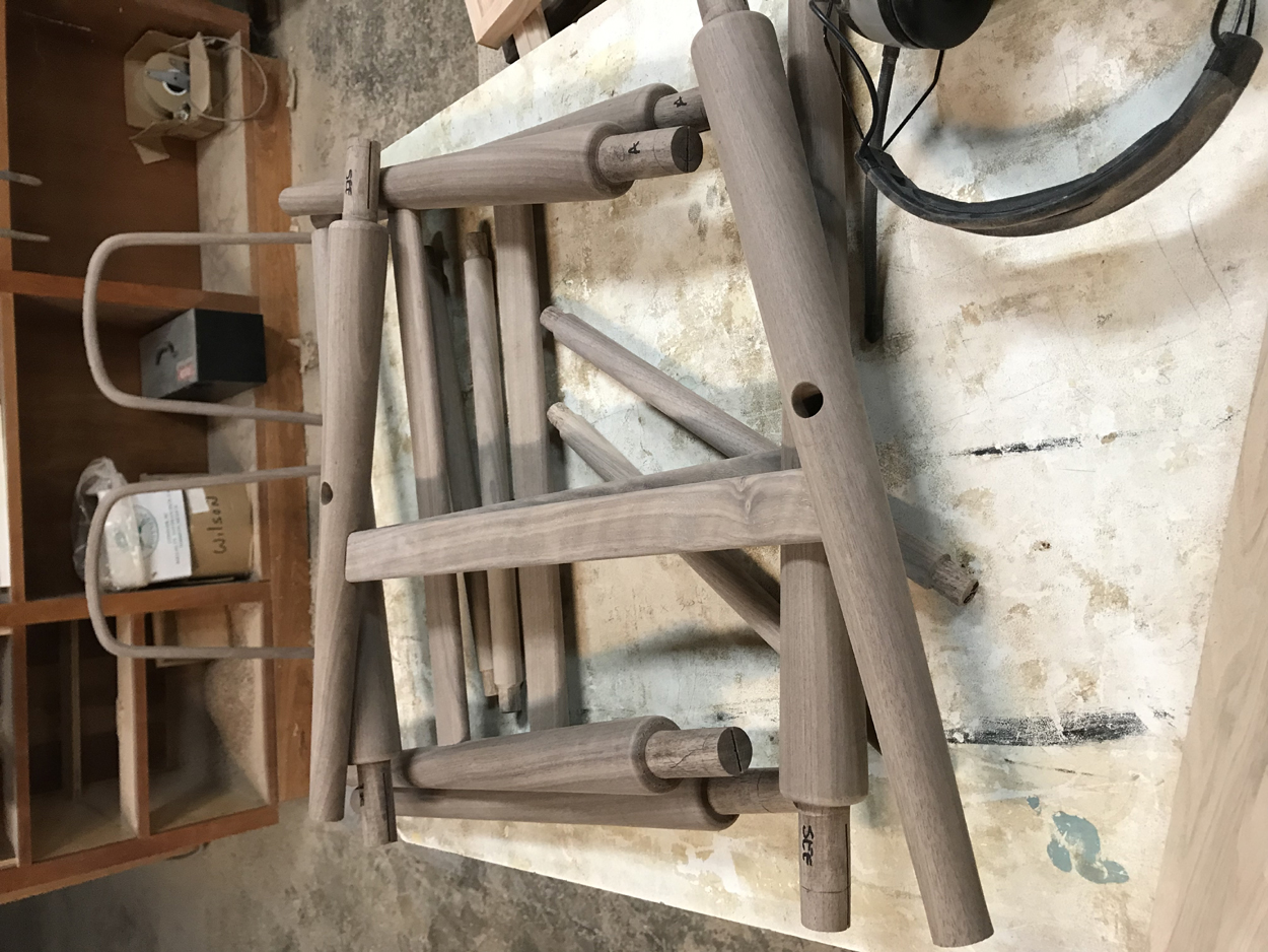 Walnut Contemporary Windsor Chair Parts