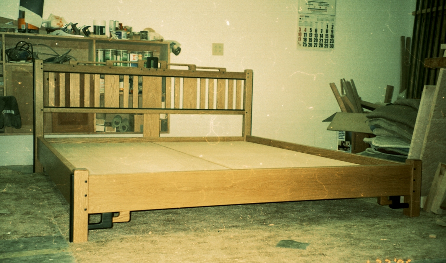 Greene & Greene Inspired King Platform Bed