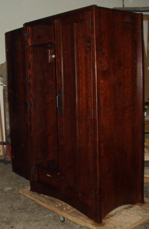 Mission Wardrobe Dyed Oak Armoire Armoire